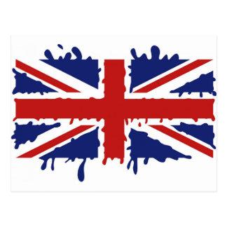 Union Jack U.K. Flag - Dripping Postcard