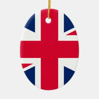Union Jack  - UK Flag Ceramic Oval Decoration