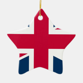 Union Jack UK Flag Christmas Ornament
