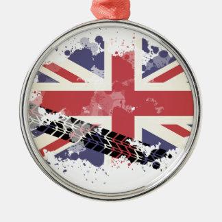 Union Jack UK Flag Christmas Ornament