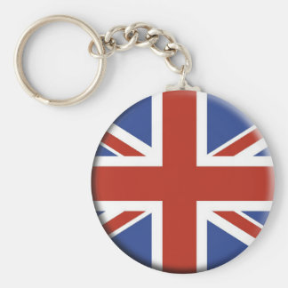 Union Jack UK Flag Circle Designs. Key Ring