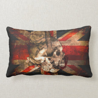 Union Jack UK Flag Gothic Lumbar Cushion