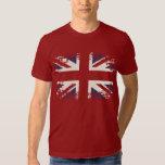 Union Jack (UK flag), grunge style. Shirts
