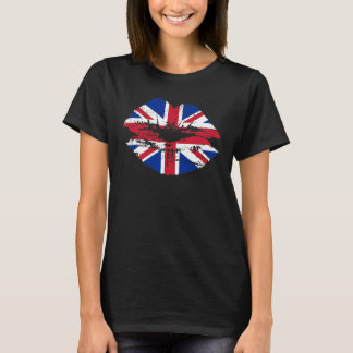 Union Jack UK Flag Lips T-Shirt