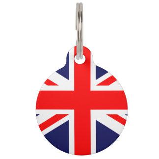 Union Jack - UK Flag Pet ID Tag