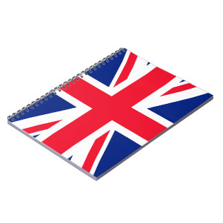 Union Jack - UK Flag Spiral Notebook