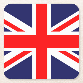 Union Jack - UK Flag Square Paper Coaster