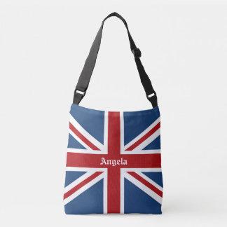 Union Jack UK Patriotic Flag Red White Blue Crossbody Bag