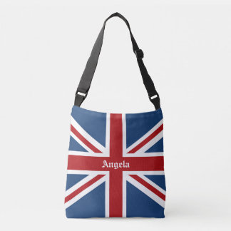 Union Jack UK Patriotic Flag Red White Blue Tote Bag