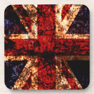 Union Jack UK Worn Flag Coaster