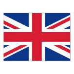 """Union Jack United Kingdom 5"""" X 7"""" Invitation Card"""