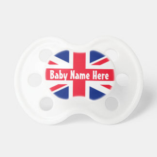 Union Jack United Kingdom British Flag Baby Pacifiers