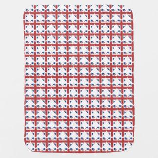 Union Jack United Kingdom heart baby blanket