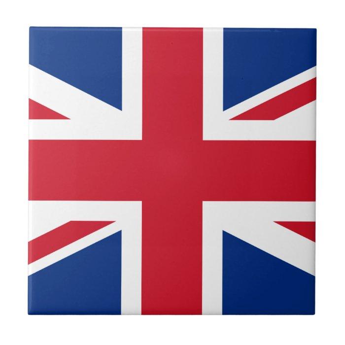 Union Jack United Kingdom Small Square Tile