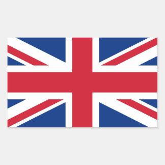 Union Jack United Kingdom Rectangular Sticker