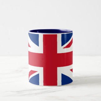 Union Jack United Kingdom Two-Tone Coffee Mug