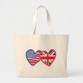 Union Jack/USA Large Tote Bag