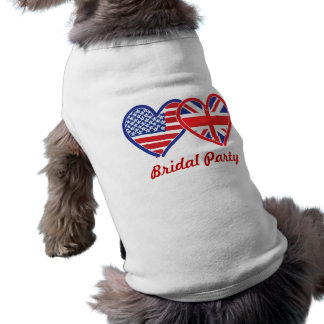 Union Jack/USA Sleeveless Dog Shirt
