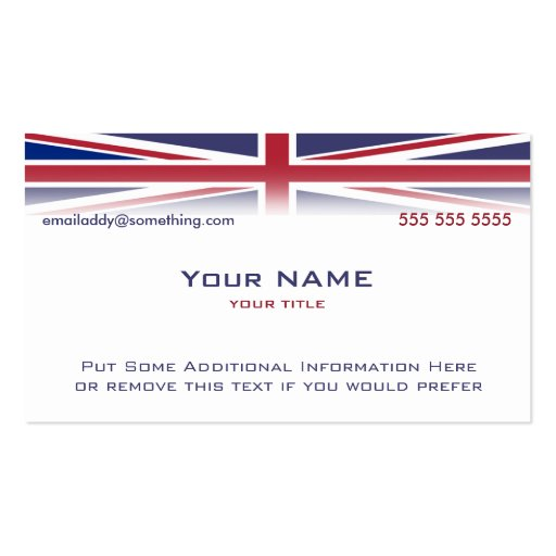 Union jack version 1 business cards zazzle for Union made business cards
