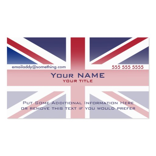 Union jack version 3 business cards zazzle for Union made business cards