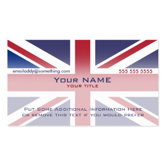 Union Jack version 3 Pack Of Standard Business Cards