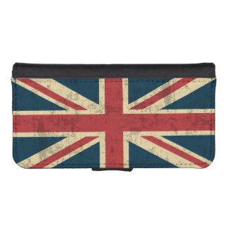Union Jack Vintage Distressed iPhone SE/5/5s Wallet Case