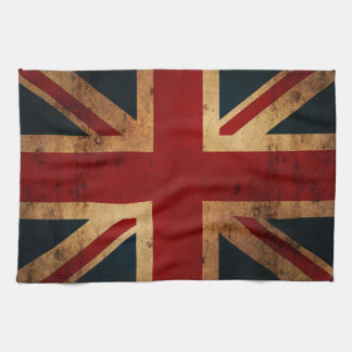 Union Jack (vintage distressed look) Hand Towel
