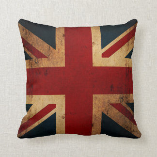 Union Jack (vintage distressed look) Throw Pillow