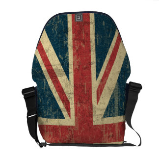 Union Jack Vintage Distressed Messenger Bags