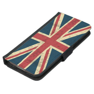 Union Jack Vintage Distressed Samsung Galaxy S5 Wallet Case