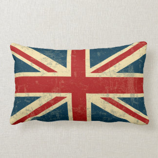 Union Jack Vintage Faded Lumbar Cushion