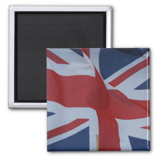 union jack waving magnet
