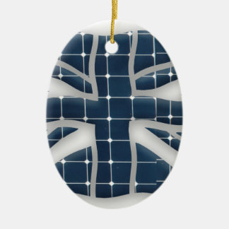 Union Jack with photovoltaic solar panels. Christmas Ornament