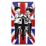 Union Jack with retro scooter boy and girl iPod Touch Case