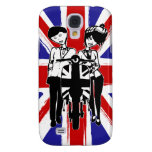 Union Jack with retro scooter boy and girl Galaxy S4 Cover