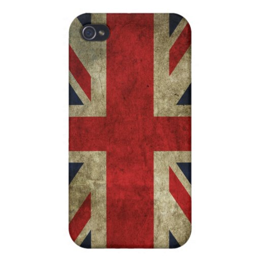 Union Jack - Worn iPhone 4 Cases
