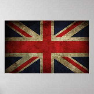 Union Jack - Worn Poster