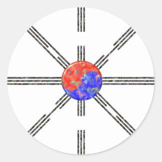 Union Korea Classic Round Sticker