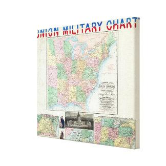 Union Military Chart Canvas Print