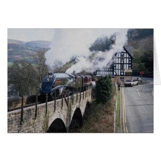 Union of South Africa Steam Train, on Berwyn Viadu Greeting Card