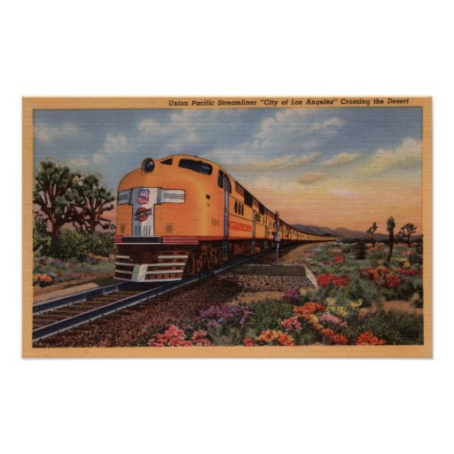 """Union Pacific Railroad """"City of Los Angeles"""" Poster"""