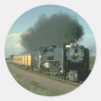 Union Pacific splendor, No. 8444 heads for Denver Classic Round Sticker