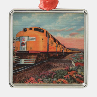 Union Pacific Train, City of L.A. Christmas Ornament