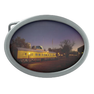 Union Pacific Train in Old Sacramento Oval Belt Buckle
