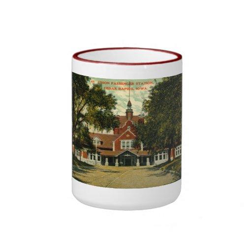 Union Passenger Depot, Cedar Rapids IA Vintage Coffee Mug