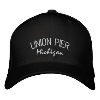 Union Pier Michigan Embroidered Hat