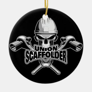 Union Scaffolder: Skull and Sockets Christmas Ornament