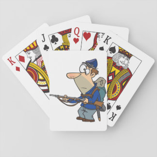 Union Soldier Playing Cards