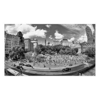 Union Square NYC From Above, B&W, Fish Eye View Pack Of Standard Business Cards