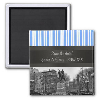 Union Square NYC in Winter BW 01 Save the Date Magnet